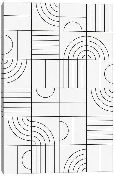 My Favorite Geometric Patterns No.19 - White Canvas Art Print