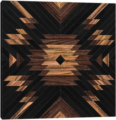 Urban Tribal Pattern No.7 - Aztec - Wood Canvas Art Print