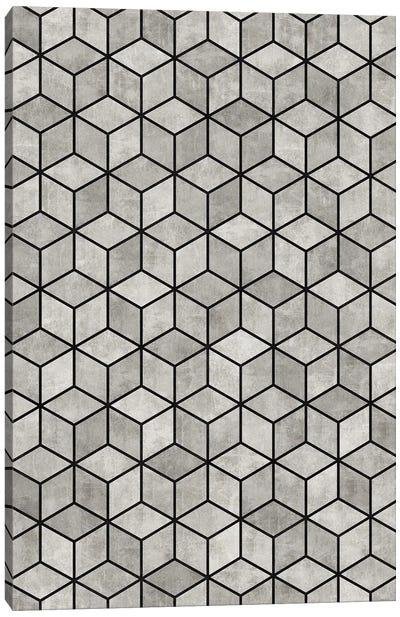Concrete Cubes Canvas Art Print