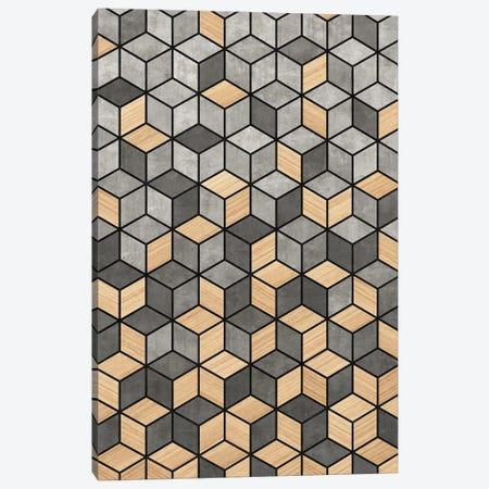 Concrete and Wood Cubes Canvas Print #ZRA20} by Zoltan Ratko Canvas Art Print