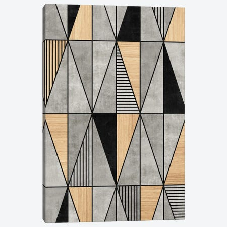 Concrete and Wood Triangles Canvas Print #ZRA22} by Zoltan Ratko Canvas Art Print