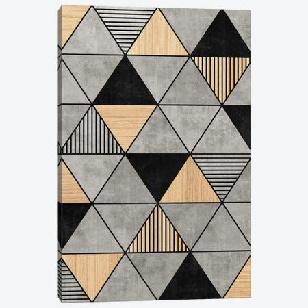 Concrete and Wood Triangles 2 Canvas Print #ZRA25} by Zoltan Ratko Canvas Wall Art