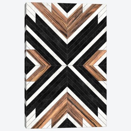 Urban Tribal Pattern No.1 - Concrete and Wood Canvas Print #ZRA26} by Zoltan Ratko Canvas Artwork