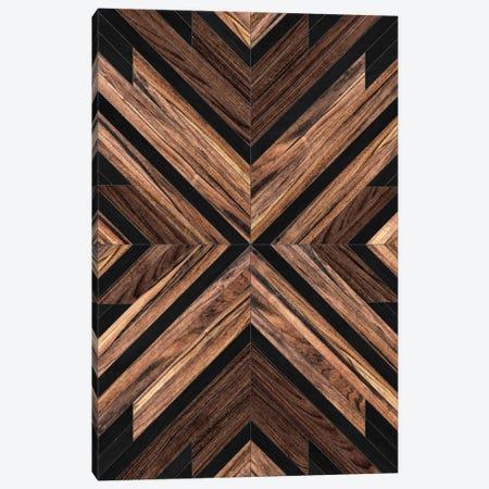 Urban Tribal Pattern No.3 - Wood Canvas Print #ZRA28} by Zoltan Ratko Canvas Art Print