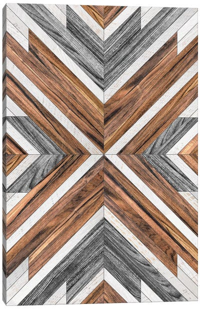 Urban Tribal Pattern No.4 - Wood Canvas Art Print