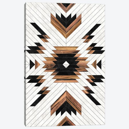 Urban Tribal Pattern No.5 - Aztec - Concrete and Wood Canvas Print #ZRA30} by Zoltan Ratko Canvas Artwork