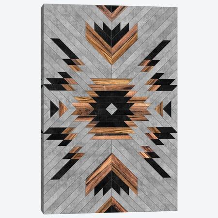 Urban Tribal Pattern No.6 - Aztec - Concrete and Wood Canvas Print #ZRA31} by Zoltan Ratko Canvas Wall Art