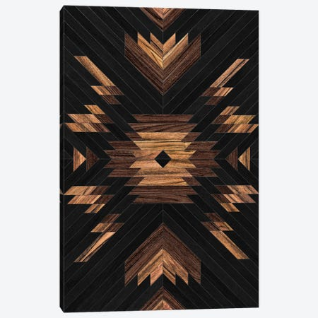 Urban Tribal Pattern No.7 - Aztec - Wood Canvas Print #ZRA32} by Zoltan Ratko Canvas Art