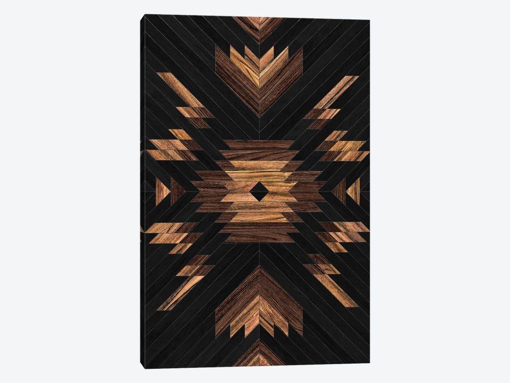 Urban Tribal Pattern No.7 - Aztec - Wood by Zoltan Ratko 1-piece Canvas Art