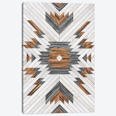 Urban Tribal Pattern No.8 - Aztec - Wood Canvas Print #ZRA33} by Zoltan Ratko Canvas Art