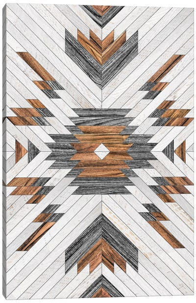 Urban Tribal Pattern No.8 - Aztec - Wood Canvas Art Print