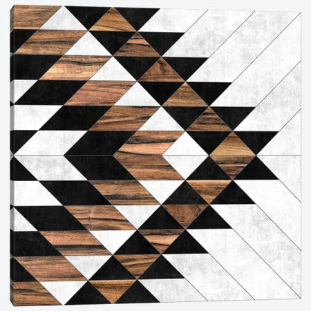 Urban Tribal Pattern No.9 - Aztec - Concrete and Wood Canvas Print #ZRA34} by Zoltan Ratko Art Print