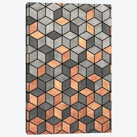 Concrete and Copper Cubes Canvas Print #ZRA38} by Zoltan Ratko Canvas Wall Art