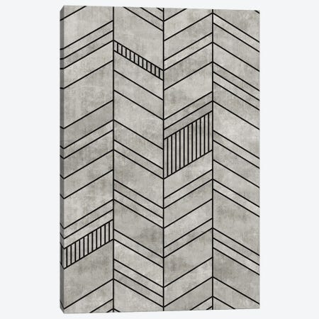 Concrete Chevron Canvas Print #ZRA3} by Zoltan Ratko Art Print