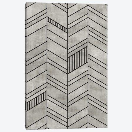 Concrete Chevron Canvas Print #ZRA3} by Zoltan Ratko Art Print