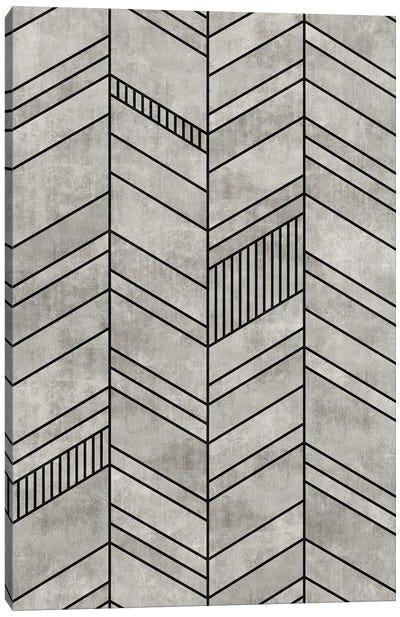Concrete Chevron Canvas Art Print