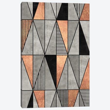 Concrete and Copper Triangles Canvas Print #ZRA44} by Zoltan Ratko Canvas Art