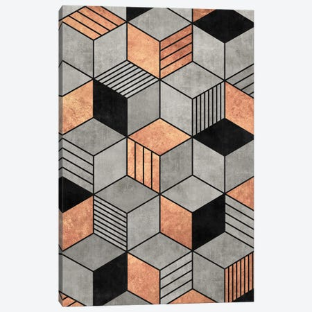 Concrete and Copper Cubes 2 Canvas Print #ZRA47} by Zoltan Ratko Canvas Wall Art