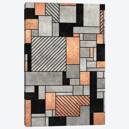 Random Pattern - Concrete and Copper Canvas Print #ZRA50} by Zoltan Ratko Canvas Art