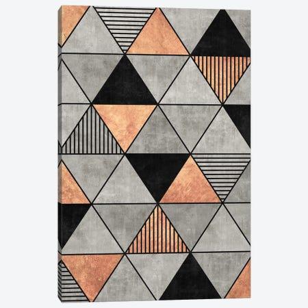 Concrete and Copper Triangles 2 Canvas Print #ZRA53} by Zoltan Ratko Canvas Wall Art