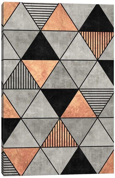 Concrete and Copper Triangles 2 Canvas Art Print