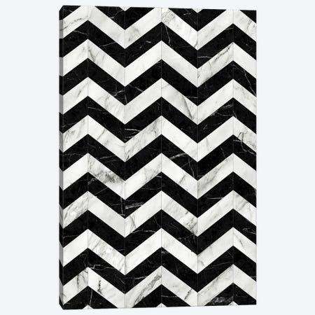 Marble Chevron Pattern 2 - Black and White Canvas Print #ZRA60} by Zoltan Ratko Canvas Art Print