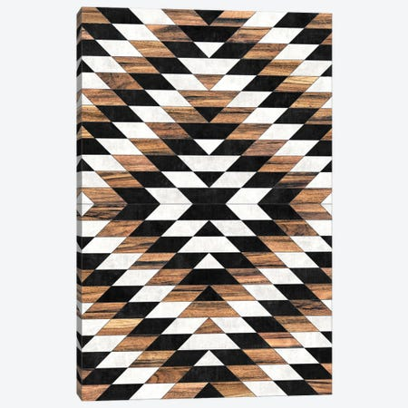 Urban Tribal Pattern No.13 - Aztec - Concrete and Wood Canvas Print #ZRA62} by Zoltan Ratko Art Print