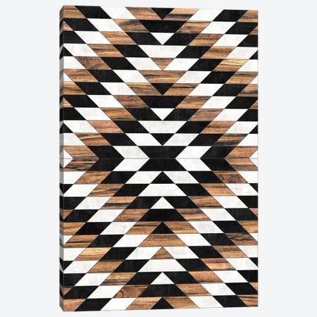 Urban Tribal Pattern No.13 - Aztec - Concrete and Wood Canvas Print #ZRA62} by Zoltan Ratko Art Print