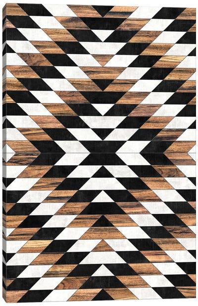 Urban Tribal Pattern No.13 - Aztec - Concrete and Wood Canvas Art Print