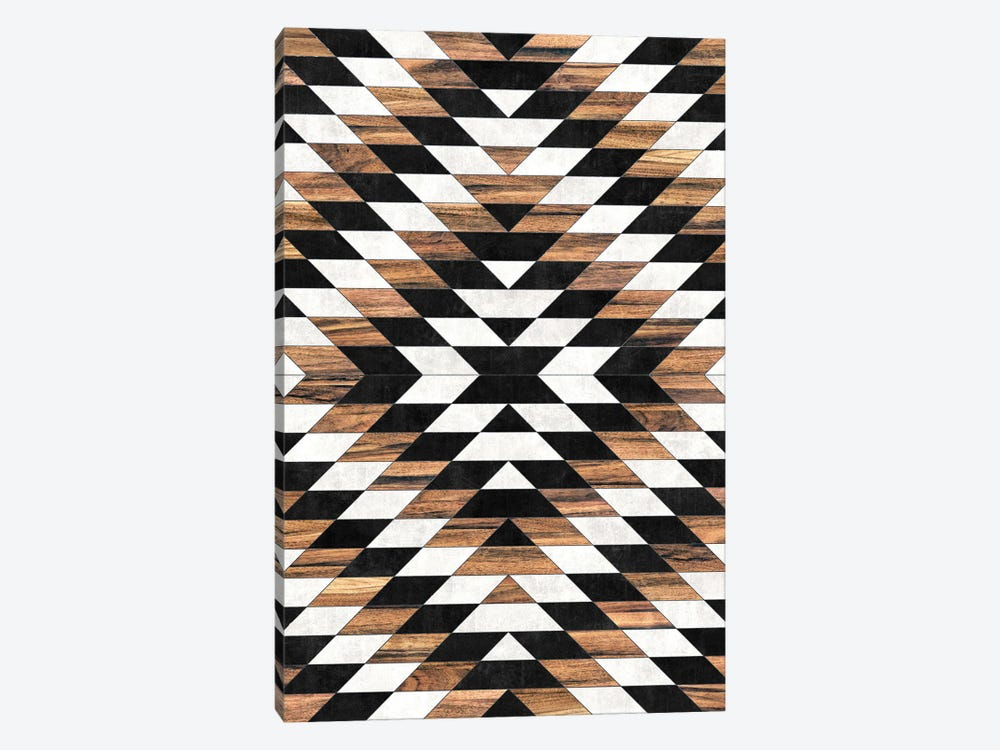 Urban Tribal Pattern No.13 - Aztec - Concrete and Wood by Zoltan Ratko 1-piece Canvas Print