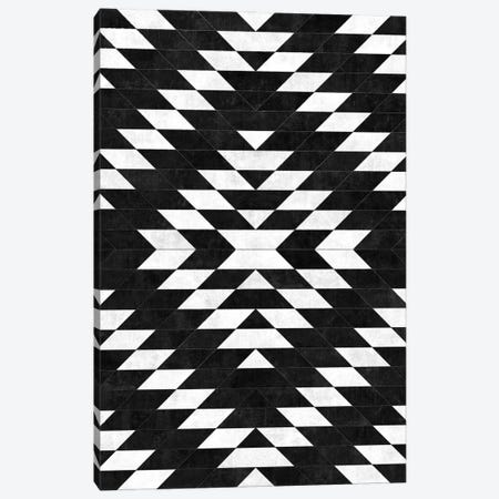 Urban Tribal Pattern No.14 - Aztec - Black Concrete Canvas Print #ZRA63} by Zoltan Ratko Canvas Art Print