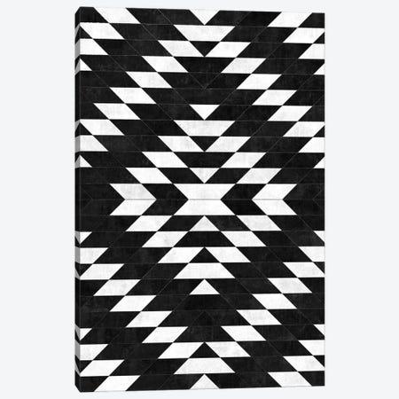 Urban Tribal Pattern No.14 - Aztec - Black Concrete Canvas Print #ZRA63} by Zoltan Ratko Canvas Art Print