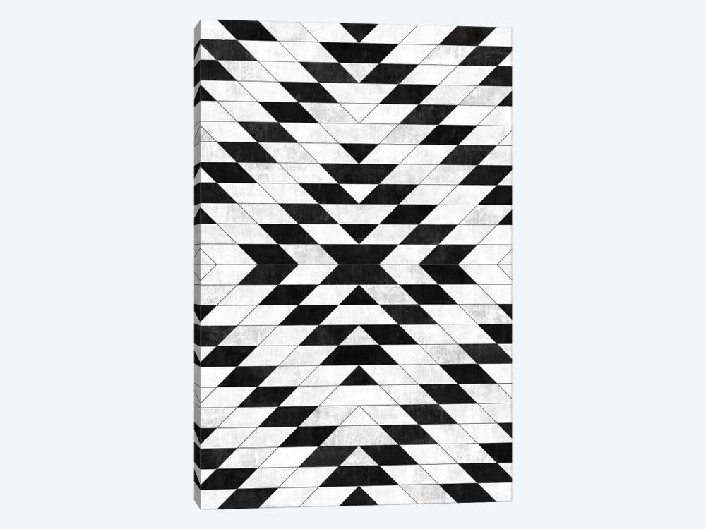 Urban Tribal Pattern No.15 - Aztec - White Concrete by Zoltan Ratko 1-piece Canvas Print