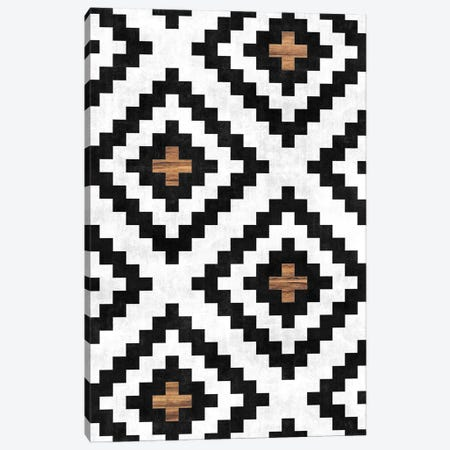 Urban Tribal Pattern No.16 - Aztec - Concrete and Wood Canvas Print #ZRA65} by Zoltan Ratko Canvas Artwork