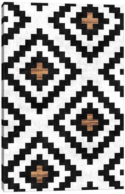 Urban Tribal Pattern No.16 - Aztec - Concrete and Wood Canvas Art Print