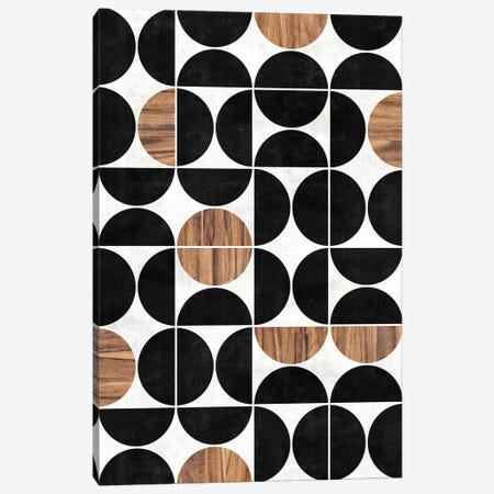 Mid-Century Modern Pattern No.1 - Concrete and Wood Canvas Print #ZRA79} by Zoltan Ratko Canvas Wall Art