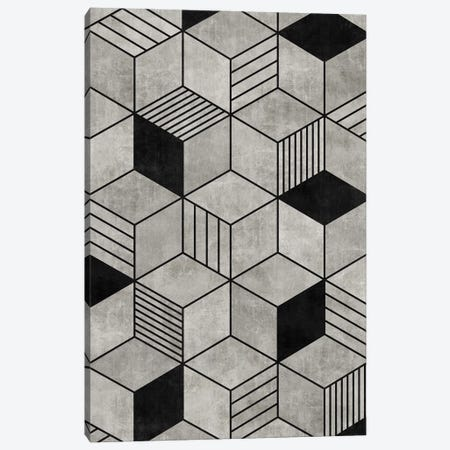 Concrete Cubes 2 Canvas Print #ZRA7} by Zoltan Ratko Canvas Art