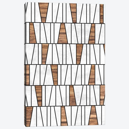 Mid-Century Modern Pattern No.4 - Concrete and Wood Canvas Print #ZRA82} by Zoltan Ratko Canvas Art Print