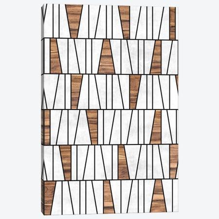 Mid-Century Modern Pattern No.4 - Concrete and Wood Canvas Print #ZRA82} by Zoltan Ratko Canvas Art Print