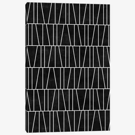 Mid-Century Modern Pattern No.5 - Black Concrete Canvas Print #ZRA83} by Zoltan Ratko Canvas Print