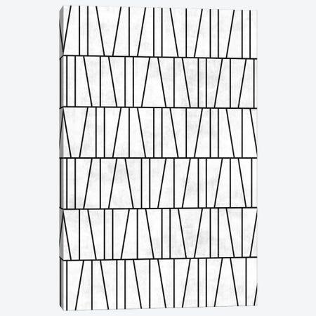 Mid-Century Modern Pattern No.6 - White Concrete Canvas Print #ZRA84} by Zoltan Ratko Canvas Art