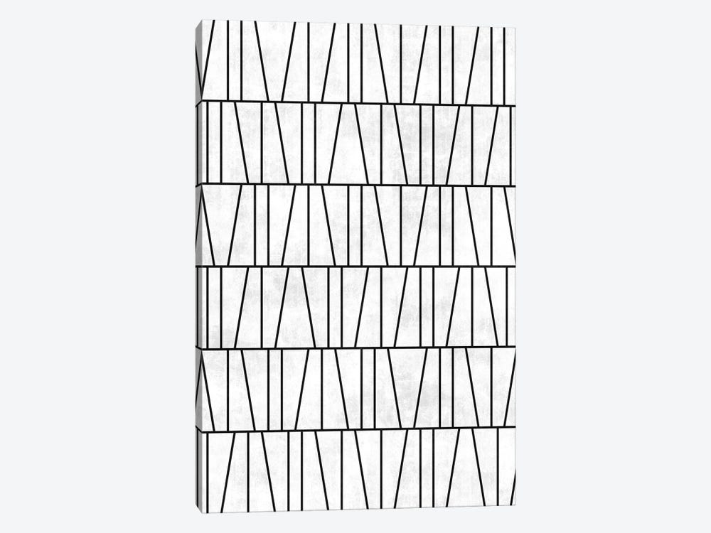 Mid-Century Modern Pattern No.6 - White Concrete by Zoltan Ratko 1-piece Art Print