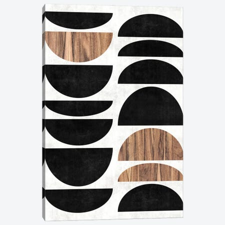 Mid-Century Modern Pattern No.7 - Concrete and Wood Canvas Print #ZRA85} by Zoltan Ratko Canvas Artwork