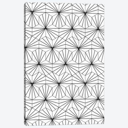 Hexagonal Pattern - White Concrete Canvas Print #ZRA91} by Zoltan Ratko Canvas Artwork