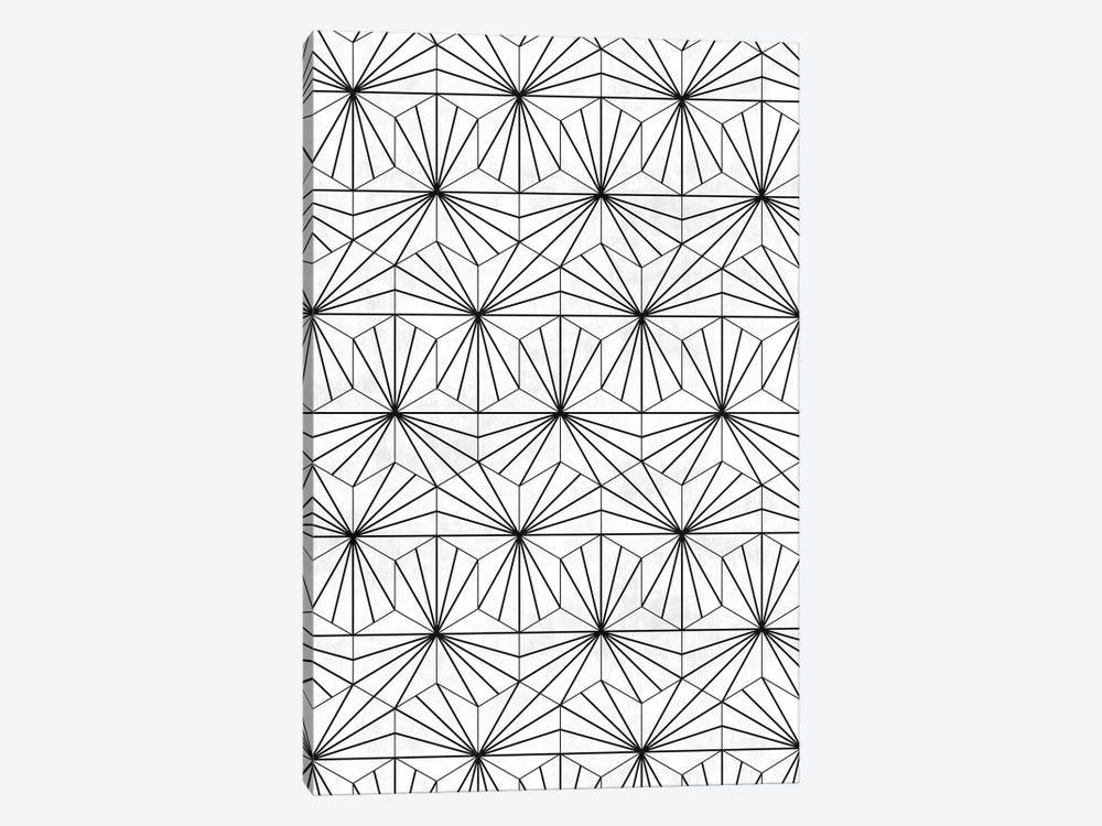 Hexagonal Pattern - White Concrete by Zoltan Ratko 1-piece Canvas Art Print
