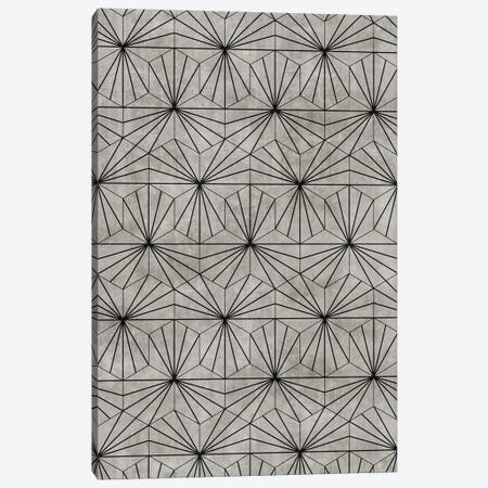 Hexagonal Pattern - Grey Concrete Canvas Print #ZRA93} by Zoltan Ratko Canvas Wall Art
