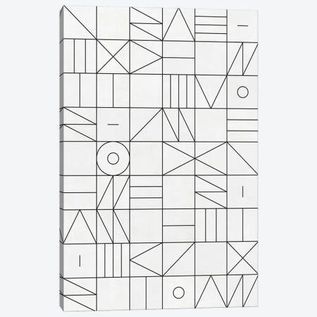 My Favorite Geometric Patterns No.1 - White Canvas Print #ZRA97} by Zoltan Ratko Canvas Art Print