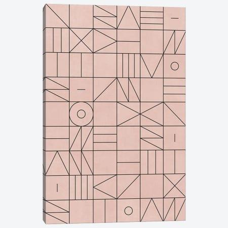 My Favorite Geometric Patterns No.2 - Pale Pink Canvas Print #ZRA98} by Zoltan Ratko Canvas Artwork