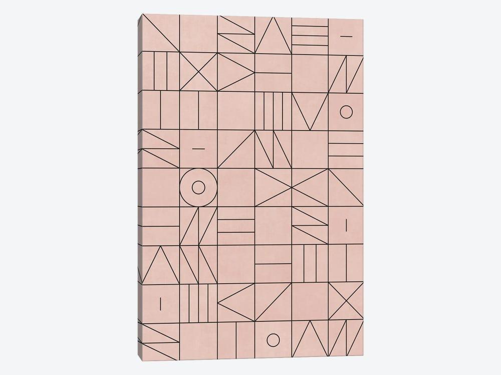 My Favorite Geometric Patterns No.2 - Pale Pink by Zoltan Ratko 1-piece Canvas Art