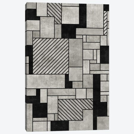 Random Concrete Pattern Canvas Print #ZRA9} by Zoltan Ratko Canvas Art Print
